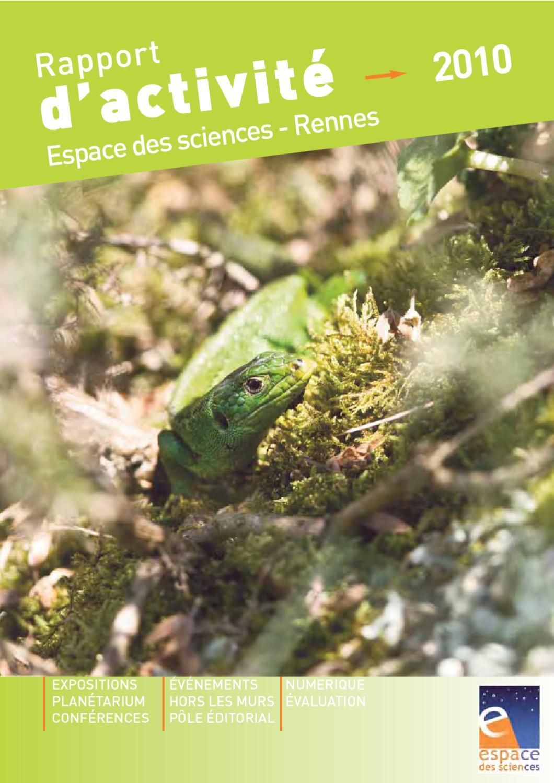 Rapport Dactivité 2010 By Espace Des Sciences Issuu