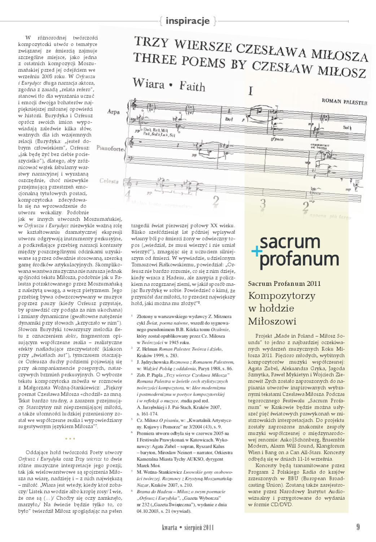 Kwarta Nr 116 Sierpień 2011 By Pwm Edition Polskie