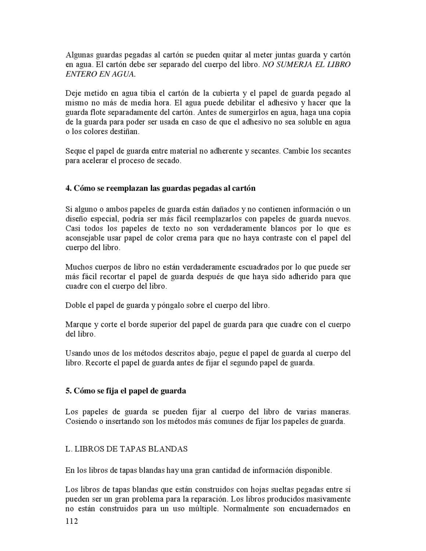 REPARACIÓN DE LIBROS BAJO PARÁMETROSDE CONSERVACIÓN by clara cortes ...