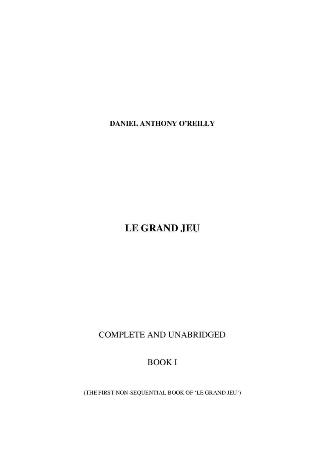 Outwitting The Devil Quotes Le Grand Jeu Part 1Marianna And Daniel O'reilly  Issuu