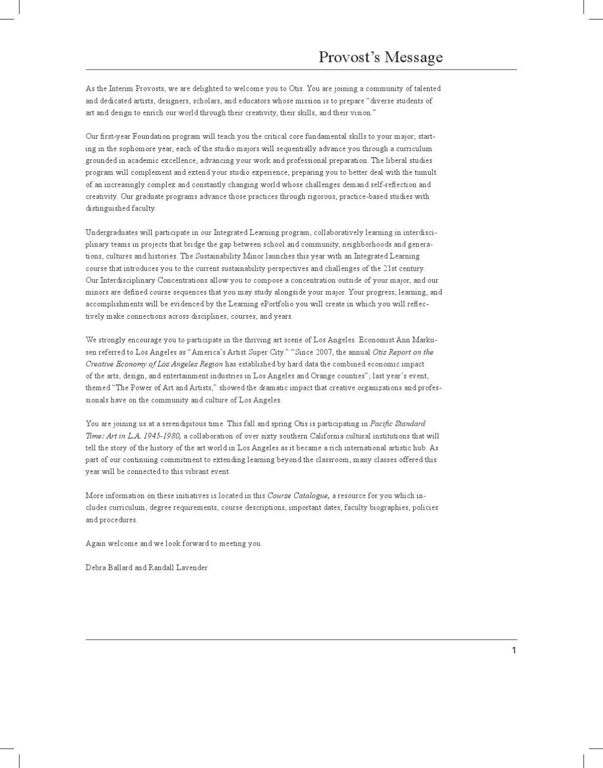 otis college of art and design essay
