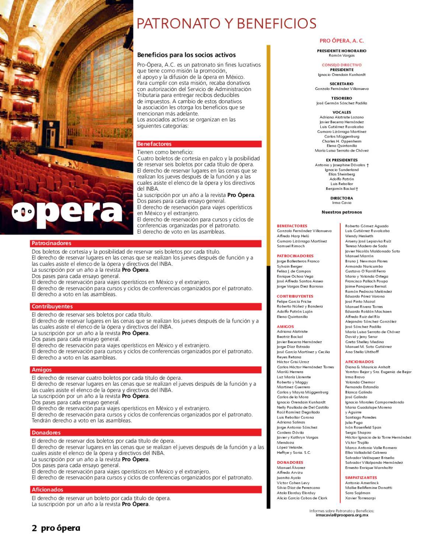Pro ópera Julio 2010 By Ricardo Gil Rizo Issuu