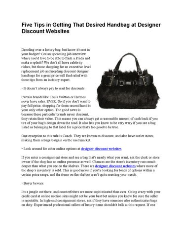 66baa467cd14 Five Tips in Getting That Desired Handbag at Designer Discount Websites  Drooling over a luxury bag