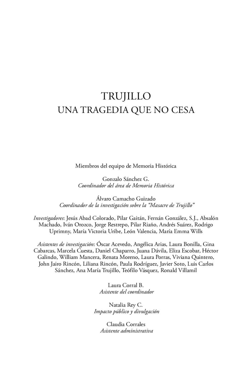 Trujillo: Una tragedia que no cesa by Grupo de Memoria Histórica ...