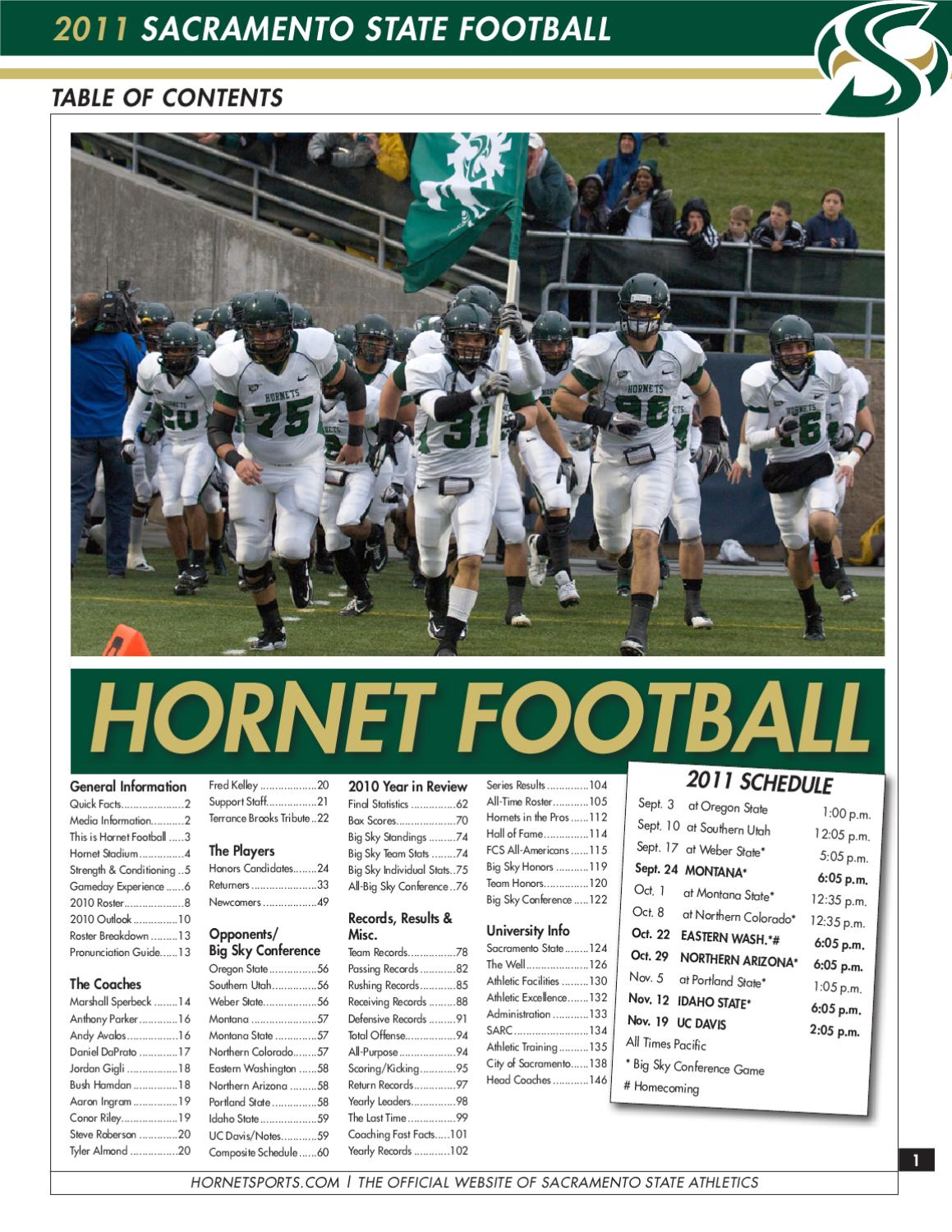 2011 Sacramento State Football Media Guide By Hornet Sports Issuu