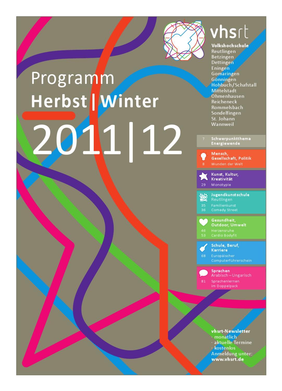Volkshochschule Volkshochschule By 20112012 Herbstwinter Programm 20112012 Herbstwinter Programm By OiwPZuTkX