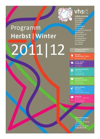 Programm Herbst/Winter 2011/2012 by Volkshochschule Reutlingen - issuu