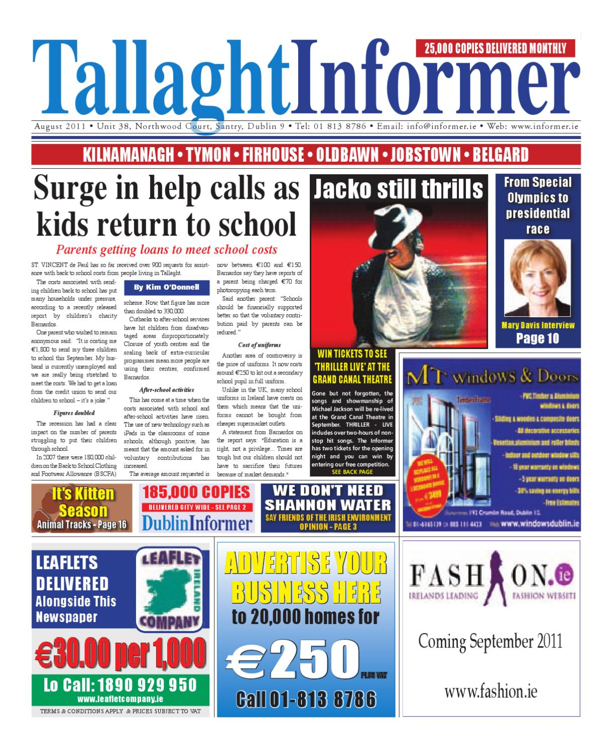 Tallaght Informer August 2011 by Niall Gormley - issuu