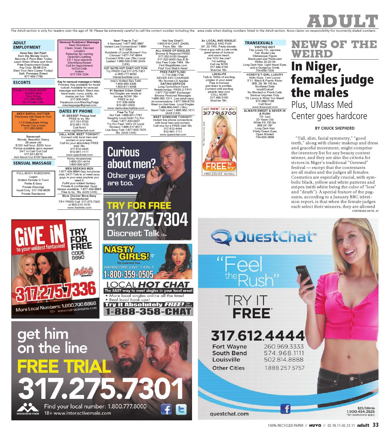 Free chat lines indianapolis 1