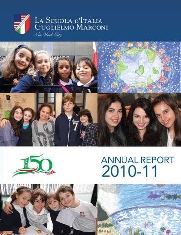 La Scuola d Italia 2010–2011 Annual Report by iperdesign dc5c4694b8c5