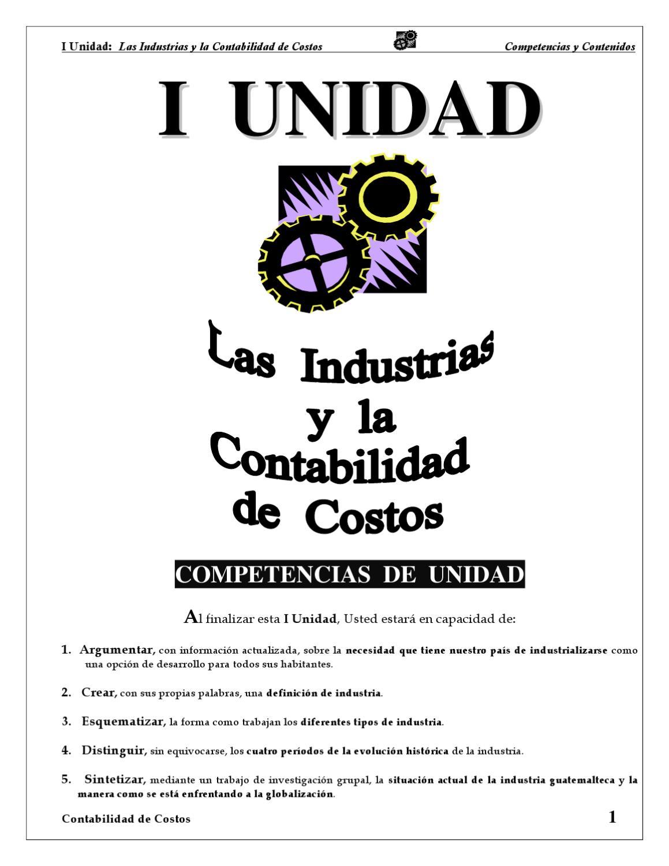 Contabilidad de Costos, tomo I by Carlos Lopez Mendizabal - issuu