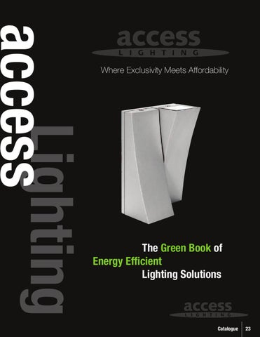 Access Lighting Energy Efficient Catalog By Alcon