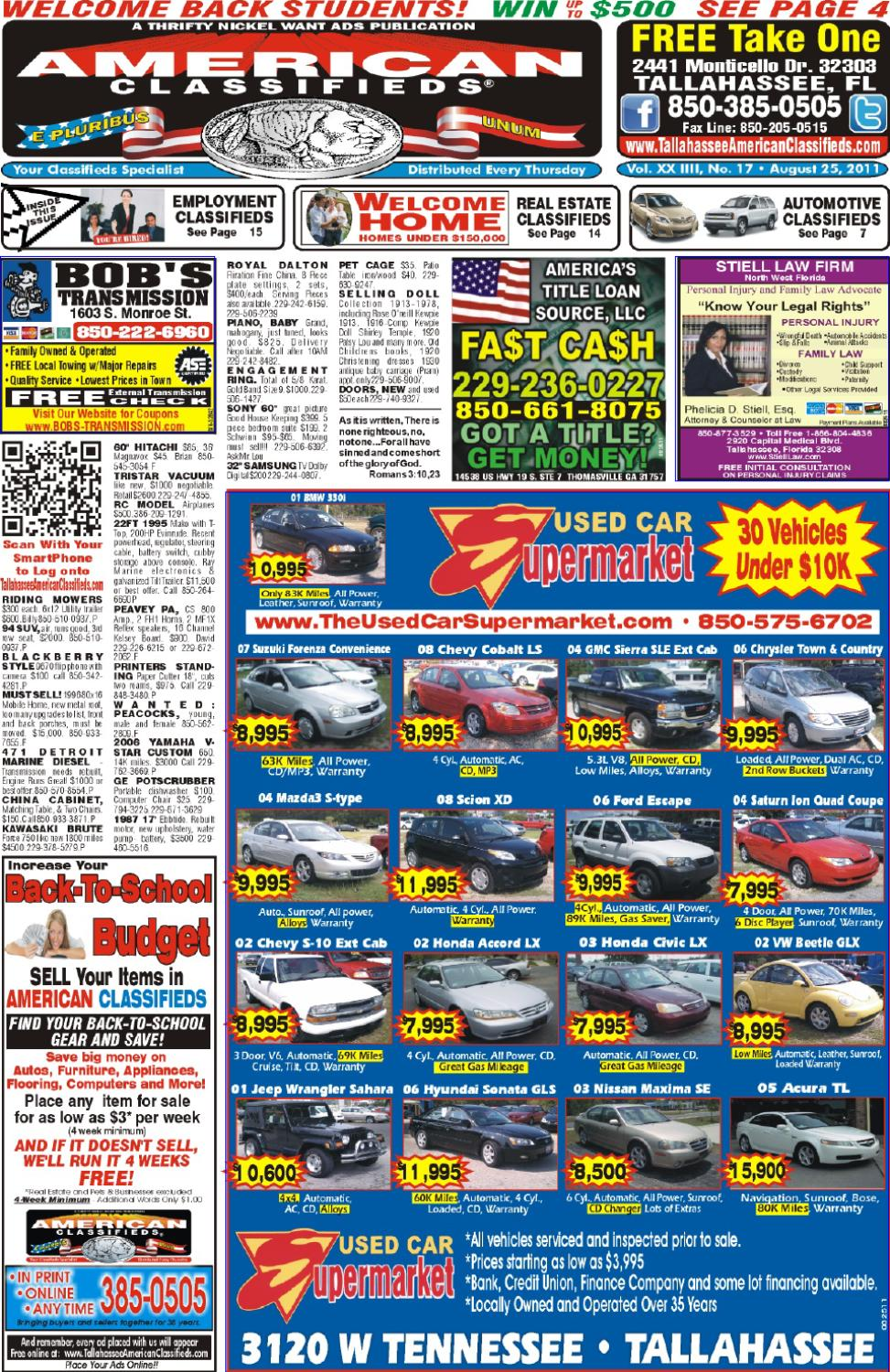 Tallahassee american classifieds issue 08 25 11 by - Craigslist tallahassee farm and garden ...