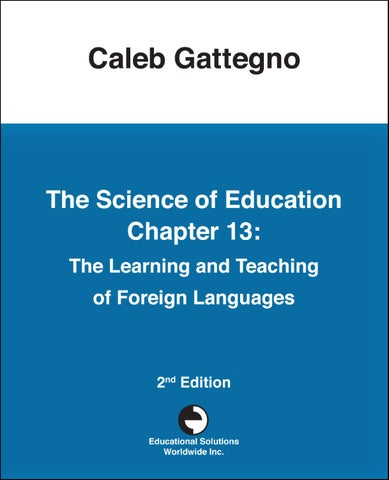 The Science Of Education Chapter 13 The Learning And