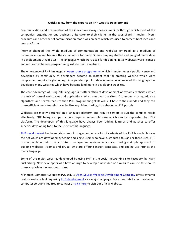 Open Source Development | Open Source CMS | Web Development