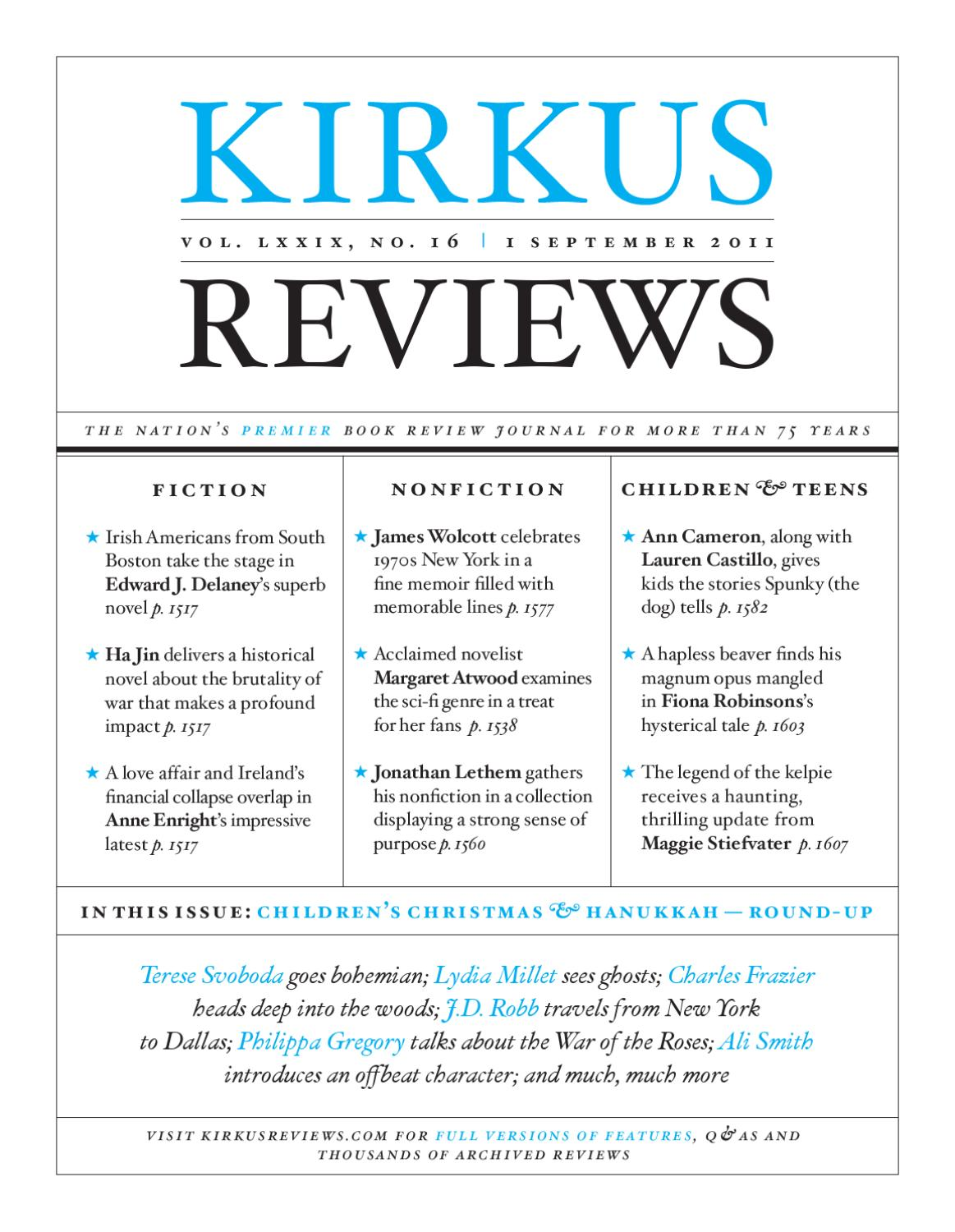 September 1 2011 volume lxxix no 16 by kirkus reviews issuu fandeluxe Choice Image