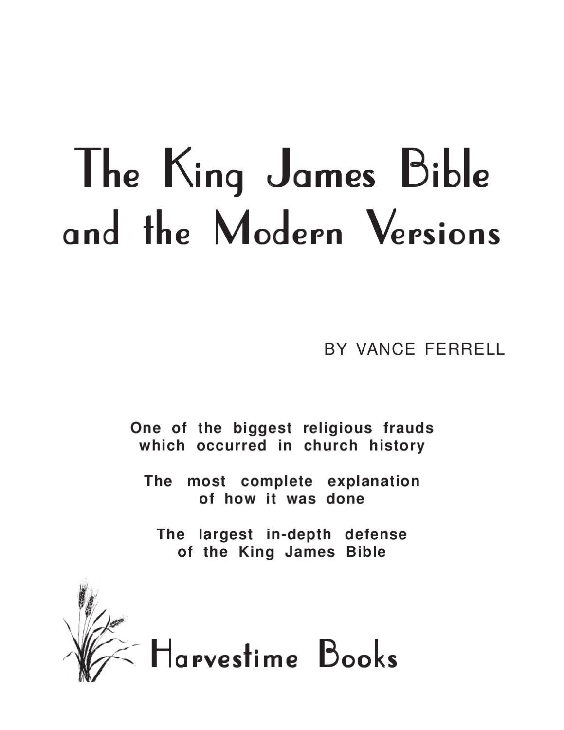 The King James Bible Modern Versions By The Spirit Of Elijah Ministries Issuu