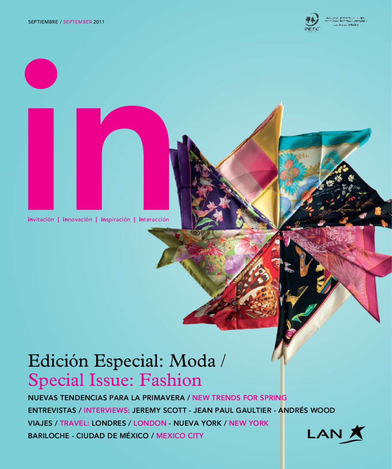 5d12283387 In Magazine Septiembre / September 2011 by Spafax - issuu