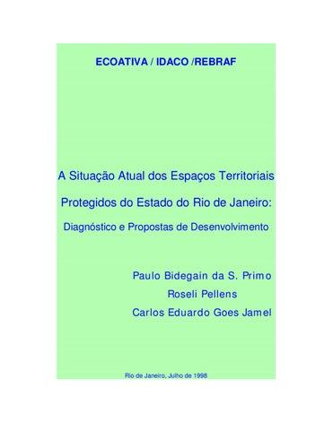905572b91 Situação dos Espaços Territoriais Protegidos do Estado do Rio de ...