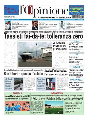 L Opinione di Civitavecchia - 25 agosto 2011 by Nuovo Viterbo Oggi ... 13b845fed042