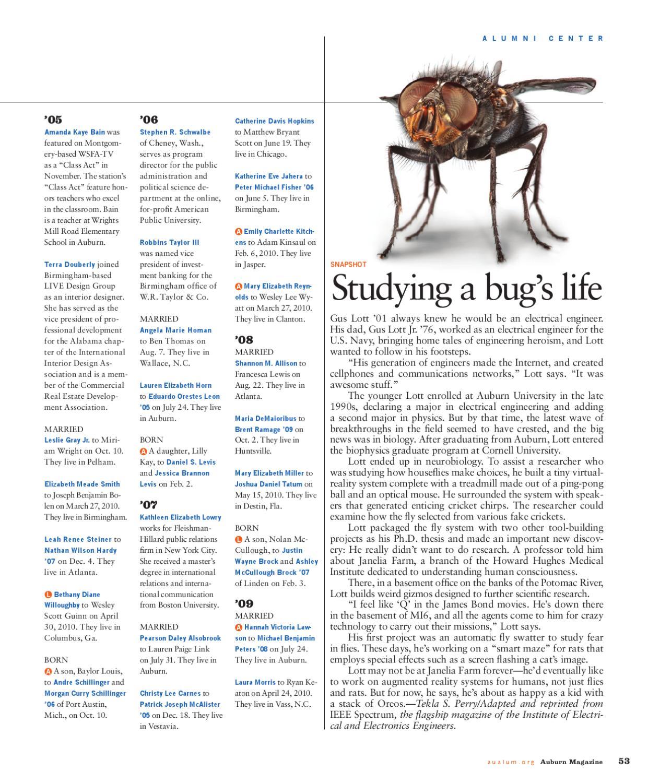 Auburn Magazine Summer 2011 by Auburn Alumni Association - issuu