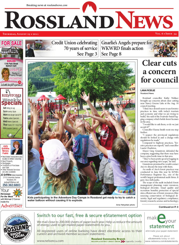 Rossland News August 25, 2011 by Rossland News - issuu