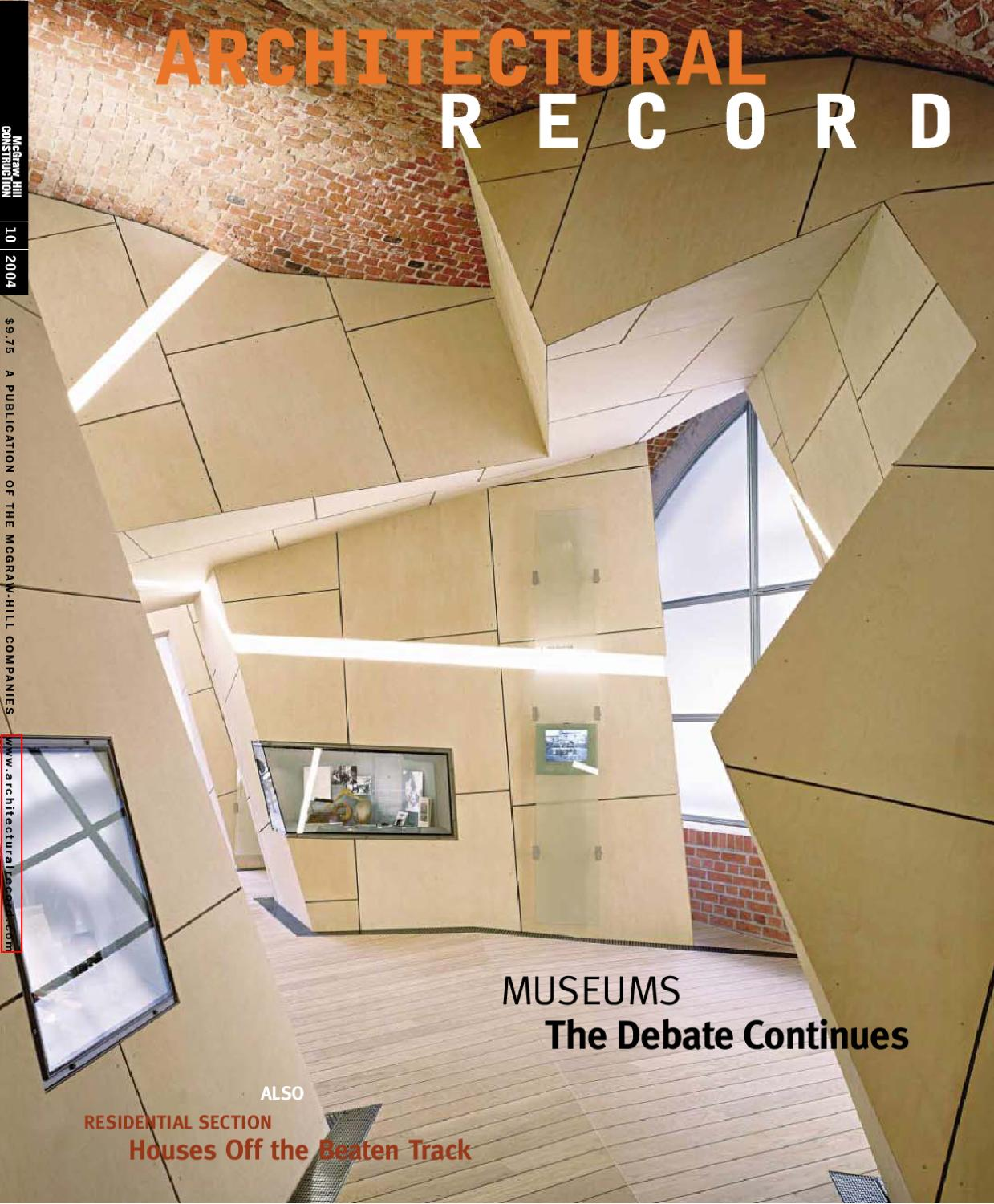 Architecture eBook] Revista Architectural Record by Wang YiFeng - issuu
