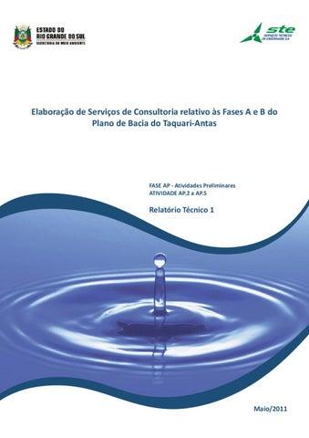 PB Taquari-AntasRelatório Técnico 01 by Mario de Alemida - issuu d8d5f09e5f5e9