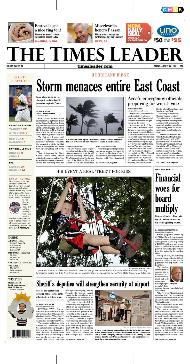 Times Leader 08-26-2011 by The Wilkes-Barre Publishing Company - issuu ca2ec980d69