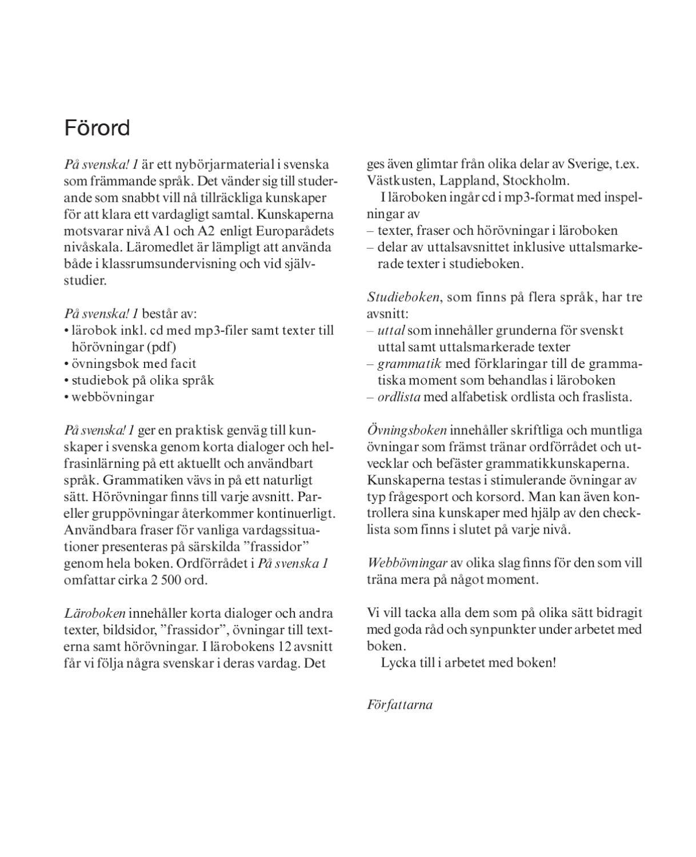 På svenska! 1 lärobok by Folkuniversitetets förlag - issuu dc339e5b8ade8