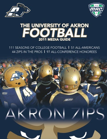 2011 Akron Football Media Guide by Akron Zips - issuu 3f72e6761