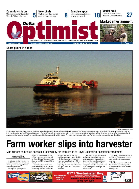 Delta Optimist - August 26, 2011 by Glacier Digital - issuu