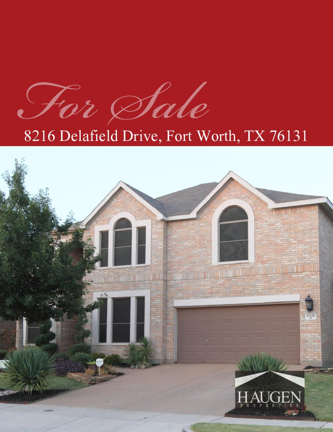8216 Delafield Drive Fort Worth Texas 76131 By Jason