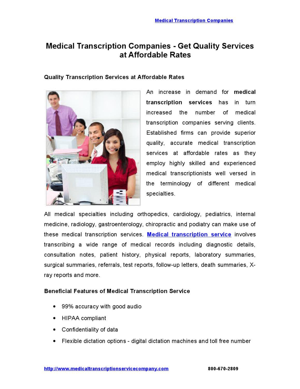 Medical transcription services market global industry ...  Medical Transcription Report