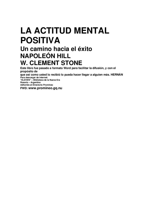 La actitud mental positiva. Un camino hacia el exito by Desarrolladores SCN  - issuu