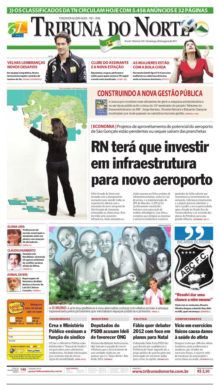 9cfa19c97 Tribuna do Norte - 28/08/2011 by Empresa Jornalística Tribuna do Norte Ltda  - issuu