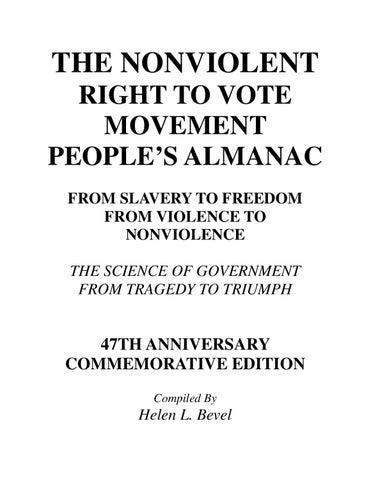 The Nonviolent Right To Vote Movement Peoples Almanac By Helen