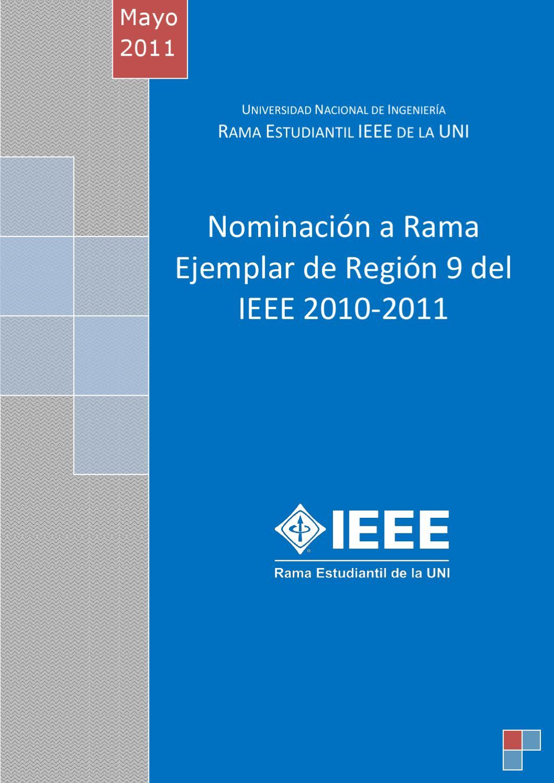 Nomicación a Rama Ejemplar de R9-2011 by REIEEE UNI - issuu