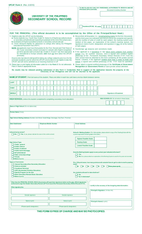 UPCAT form 2 by Albert Gimena - issuu