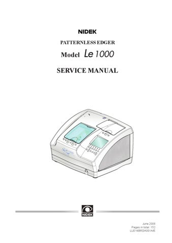 Le 1000 Service Manual by Michele Candiano - issuu Fan Switch Wiring Diagram Model on