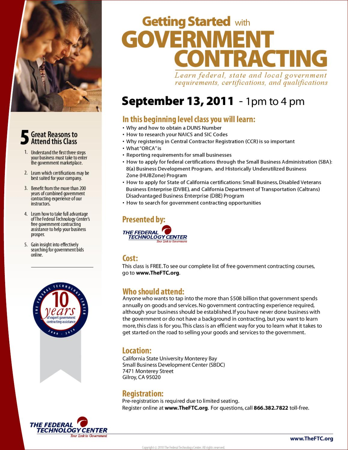 Getting Started With Government Contracting by Gilroy EDC - issuu