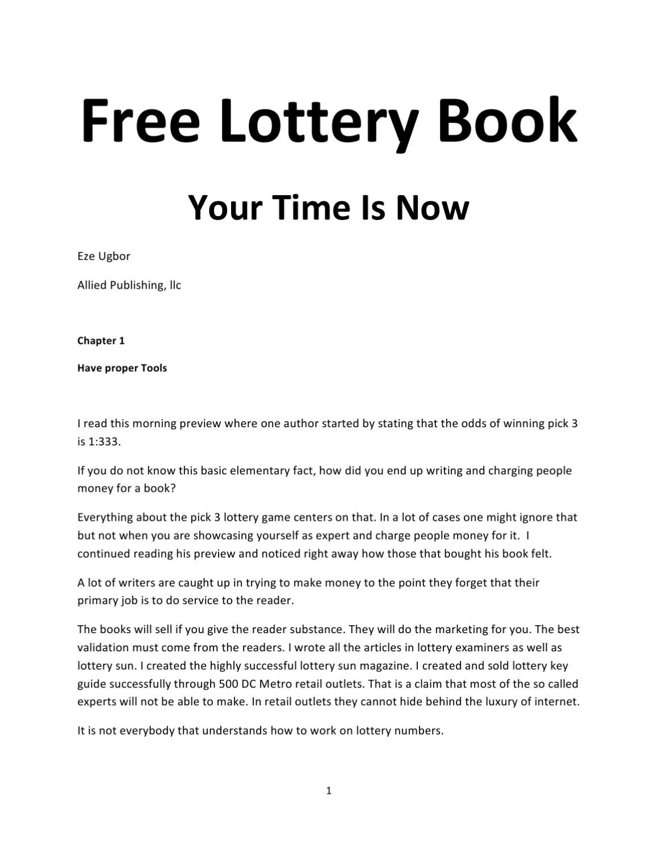 Free Lottery Book by Eze Ugbor - issuu
