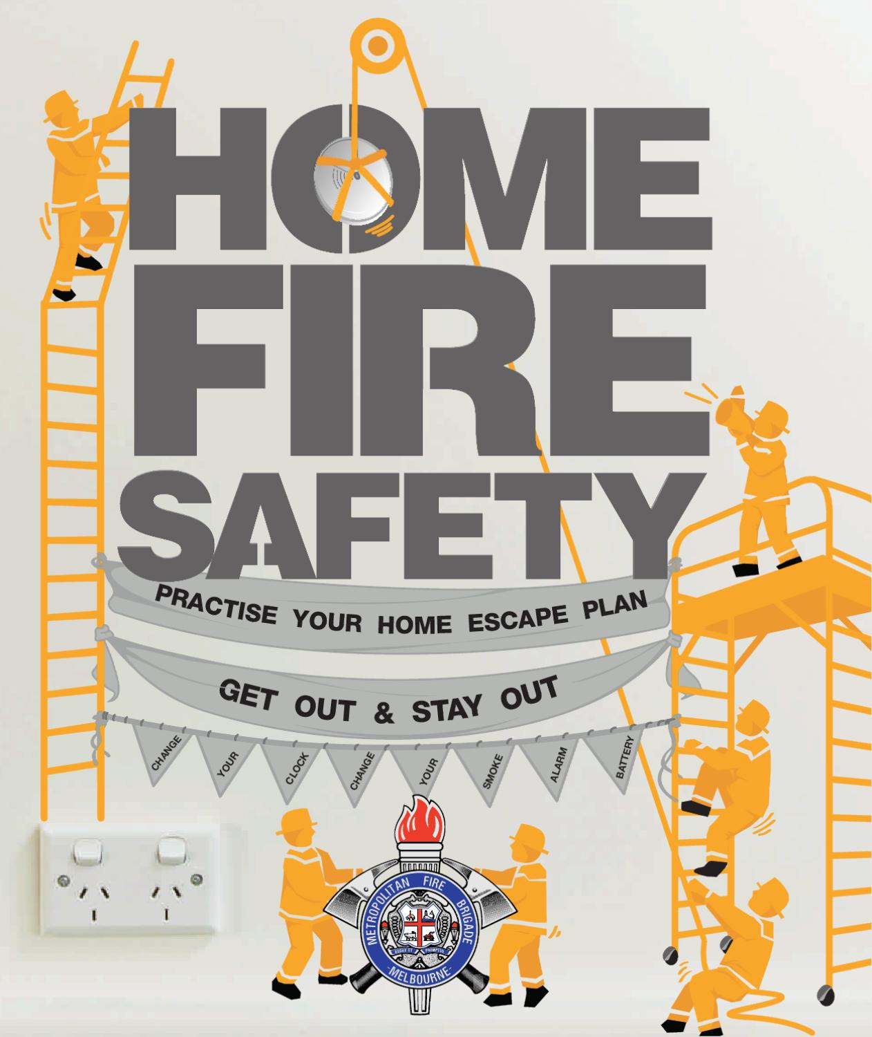 Home fire safety brochure by metropolitan fire brigade issuu for Fire safety house