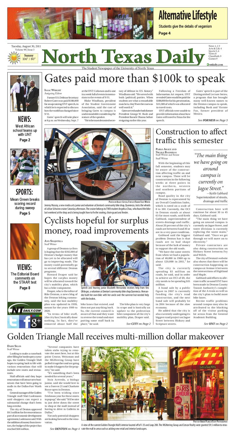 NTDaily 8-30-11 by North Texas Daily - issuu