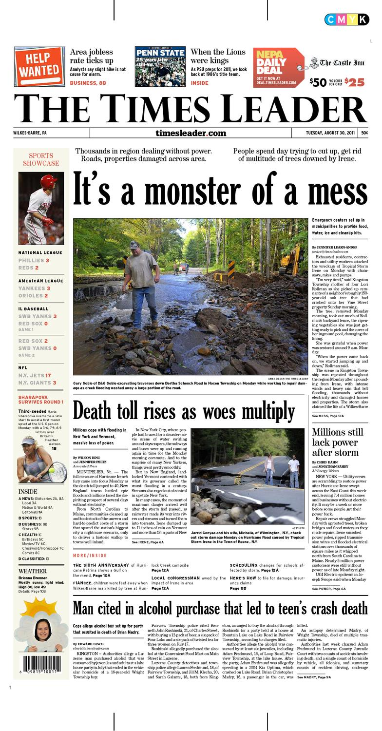Times leader 08 30 2011 by the wilkes barre publishing company issuu