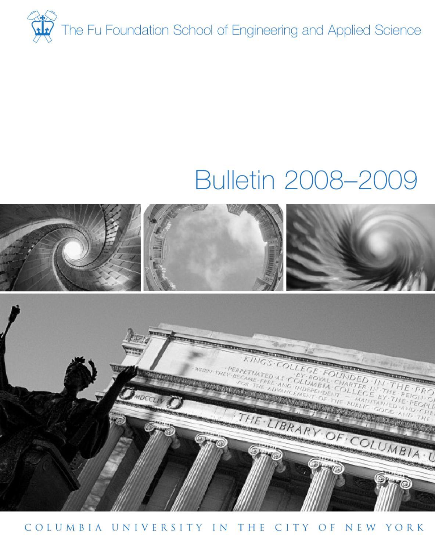 2008-09 Bulletin by Columbia Engineering School - issuu