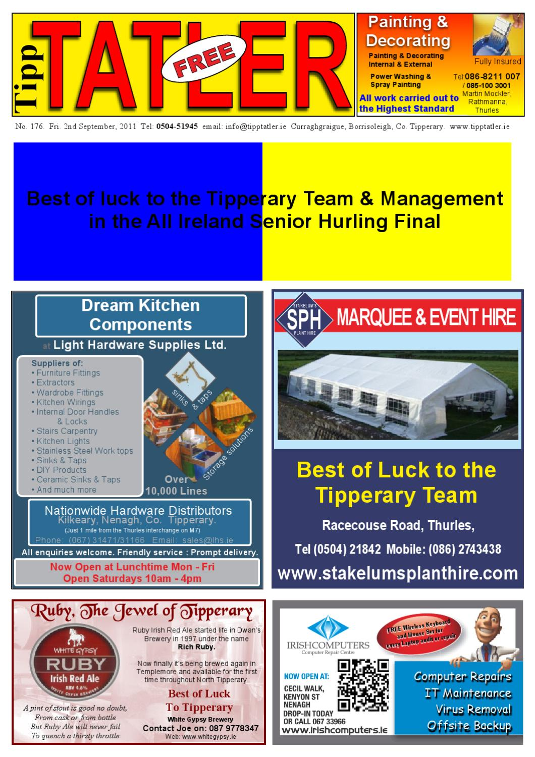 a4563068b7d Tipp Tatler Issue 176 All Ireland Hurling Final Special 2011 by Tipp ...