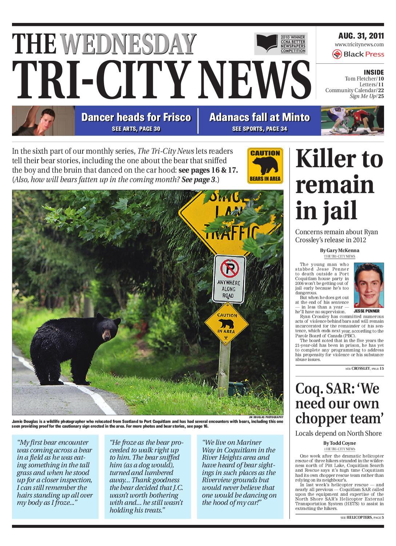 Wednesday, August 31, 2011 Tri-City News by Tri-City News