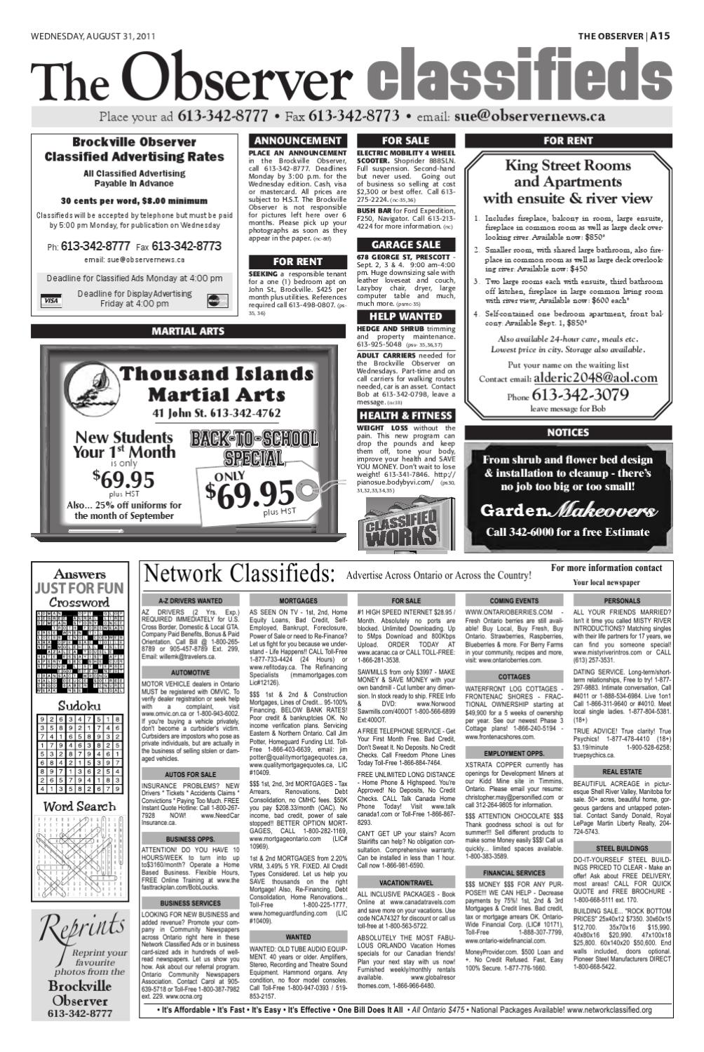 The Brockville Observer Newspaper by The Observer Brockville