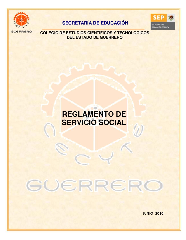 Reglamento Servicio Social by ale solis - issuu